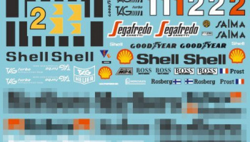 MP4/2C Full Decal for Bburago/ Protar 1/24 - MSM Creation
