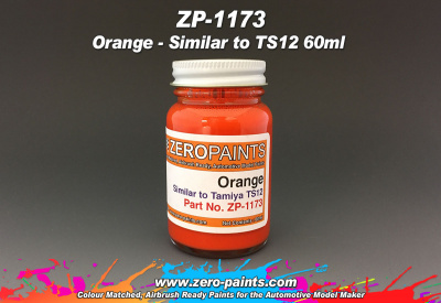 Orange Paint (Similar to TS12) - Zero Paints