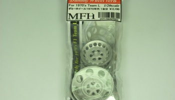 Dummy Wheel Set ver. B For 1970's Team L - Model Factory Hiro