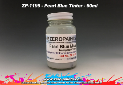 Pearl Blue Mica Transparent Tinter - Zero Paints