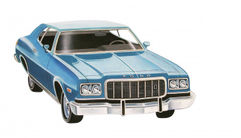 76 Ford Gran Torino (1:25) Plastic Model Kit MONOGRAM 4412 - Revell
