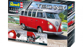 "Volkswagen T1 ""Samba Bus"" (1:16) Plastic Model Kit TECHNIK 00455 - Revell"