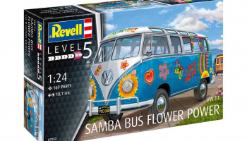 "VW T1 Samba Bus ""Flower Power"" (1:24) Plastic Model Kit 07050 - Revell"