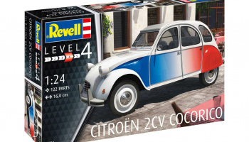 "Citroen 2 CV ""Cocorico""  (1:24) Plastic Model Kit 07653 - Revell"