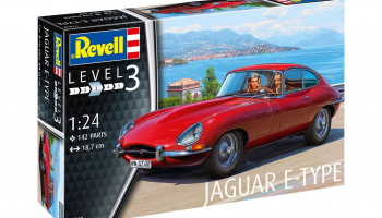 Jaguar E-Type (Coupé) (1:24) Plastic Model Kit auto 07668 - Revell