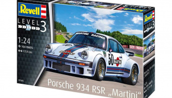 "Porsche 934 RSR ""Martini"" (1:24) Plastic Model Kit 07685 - Revell"