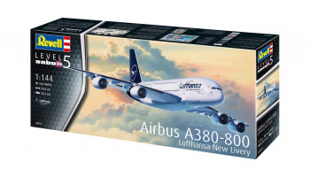 Airbus A380-800 Lufthansa New Livery (1:144) Plastic Model Kit 03872 - Revell