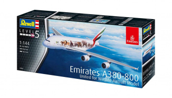 "Airbus A380-800 Emirates ""Wild Life"" (1:144) Plastic Model Kit 03882 - Revell"