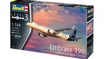 Embraer 190 Lufthansa New Livery (1:144) Plastic Model Kit 03883 - Revell