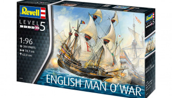 English Man O'War (1:96) Plastic Model Kit 05429 - Revell