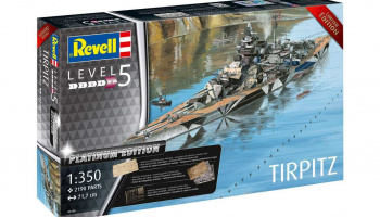 Plastic ModelKit loď Limited Edition 05160 - Tirpitz (Platinum Edition) (1:350)