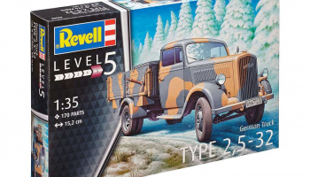 German Truck Typ 2,5 - 32 (1:35) Plastic Mode Kit 03250 - Revell