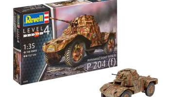 Plastic ModelKit military 03259 - Armoured Scout Vehicle P 204 (f) (1:35) – Revell