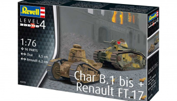 Plastic ModelKit military 03278 - Char B.1 bis & Renault FT.17 (1:76)