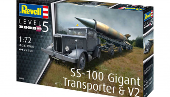SS-100 Gigant + Transporter + V2 (1:72) Plastic Model Kit military 03310 - Revell