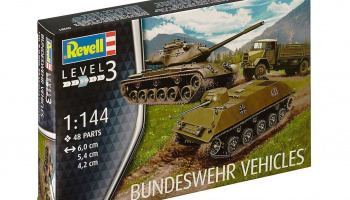 Plastic ModelKit military 03351 - Bundeswehr Vehicles M47 Patton & HS 30 & LKW 5t gl (Emma) (1:144) - Revell