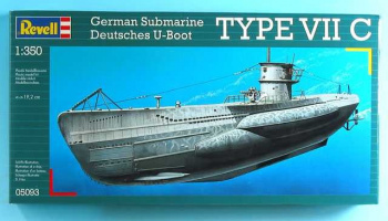 Plastic ModelKit ponorka 05093 - U-Boot Typ VIIC (1:350) – Revell