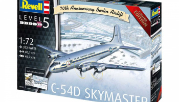 C-54D Skymaster 70th Anniversary Berlin Airlift (1:72) Plastic Model Kit Limited Edition 03910 - Revell