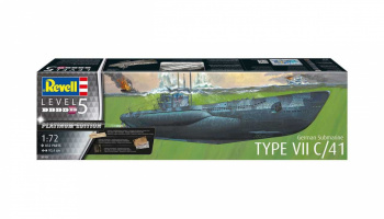 German Submarine Type VII C/41 (Platinum Edition) (1:72) Plastic Model Kit Limited Edition 05163 - Revell