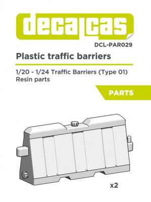 Plastic traffic barriers Type 01 1:24 - Decalcas