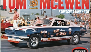 "Tom ""Mongoose"" McEwen 1969 Barracuda Funny Car 1:25  - Polar Lights"