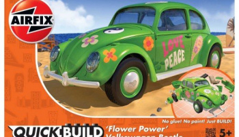 Quick Build auto J6031 - QUICKBUILD VW Beetle Flower-Power
