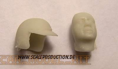 "Racecar Driver head ""P. Rodriguez"" - SCALE PRODUCTION"