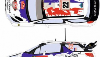 Citroen DS3 WRC 22 Rally Montecarlo 2013 1/24 - Racing Decals 43