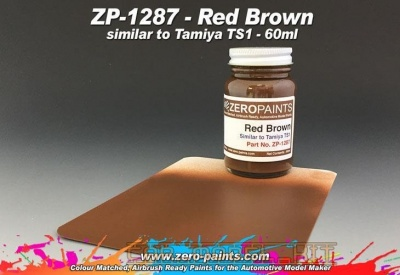 Red Brown (Similar to Tamiya TS1) - Zero Paints