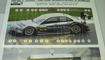 Mercedes C-Class DTM 2009 B. Spengler Decals - REJI MODEL