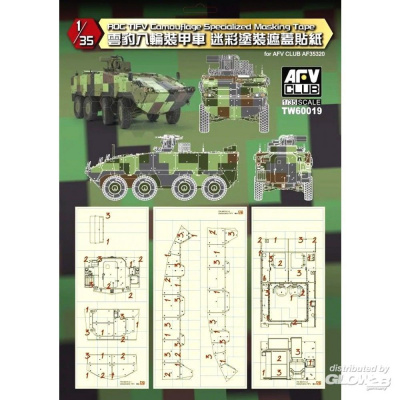 ROC Tifv Camouflage Specialized Masking Tape in 1:35 - AFV Club