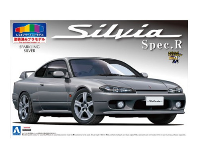 S15 SILVIA SPEC.R (Sparkling Silver PRE-PAINTED MODEL) 1/24 - Aoshima