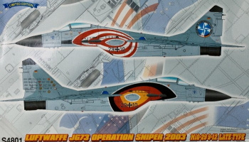 "Luftwaffe JG 73 Operation Sniper 2003 MiG-29 9-12 Late Type ""Farewell USA 2003"" (1:48) - Great Wall Hobby"