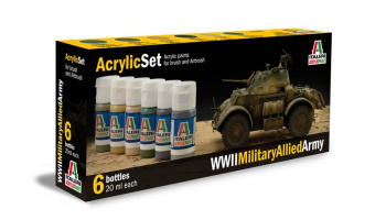 440AP - WWII MILITARY ALLIED ARMY 6 ks - Italeri