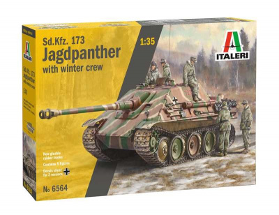 Sd. Kfz.173 Jagdpanther with crew (1:35) Model Kit 6564 - Italeri
