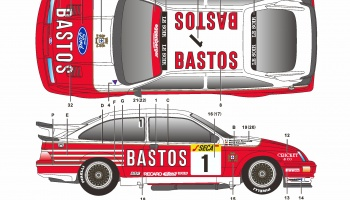 Ford Sierra RS500 24H Spa - SKDecals