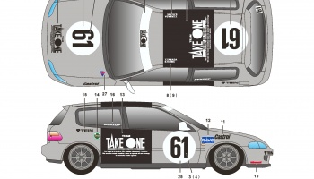 Honda Civic EG6 Take One - SKDecals