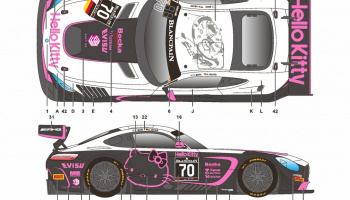 Mercedes AMG GT Blancpain 17 Hello Kitty - SKDecals
