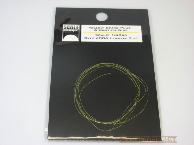 Spark Plug Wire & Ignition Wire Yellow 1:43 - Scale Motorsport