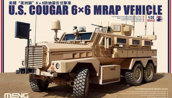 U.S. COUGAR 6x6 MRAP VEHICLE 1:35 - Meng Model
