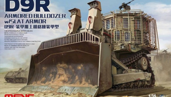 D9R Armored Bulldozer w/Slat Armor 1:35 - Meng Model