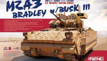 U.S.Infantry Fighting Vehicle M2A3 Bradley w/BUSK 1:35 - Meng Model