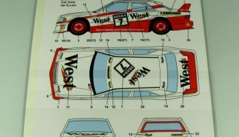 "Mercedes-Benz 190E ""AMG-WEST&EAST"" #7/78 DTM (1991) - Studio27"