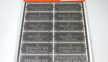 F-1 1998 Driver's name plate part I - Studio27