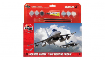 Starter Set letadlo A55312 - General Dynamics F-16A/B Fighting Falcon  (1:72) - Airfix