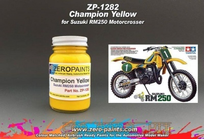 Suzuki Champion Yellow RM250 Motocrosser Bike (Tamiya) 60ml - Zero Paints