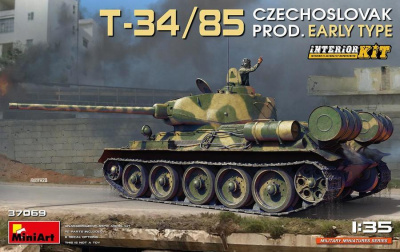 T-34/85 CZECHOSLOVAK PROD. EARLY TYPE. INTERIOR KIT 1/35 - MiniArt