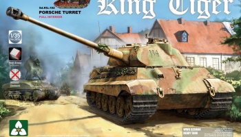 King Tiger Sd.Kfz.182 PORSCHE TURRET / Full Interior 1/35 - Takom
