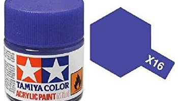 X-16 Purple Acrylic Paint Mini X16 - Tamiya
