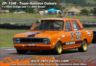 Team Gunston Paint Set - 30ml Orange & 30ml Brown - Zero Paints